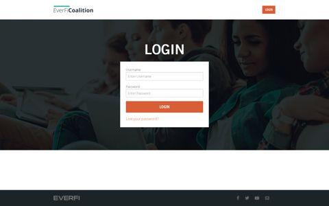 Login - EverFi Coalition Coalition