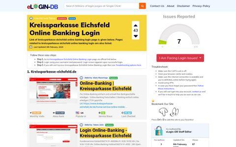 Kreissparkasse Eichsfeld Online Banking Login