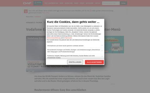 Vodafone Easy Box Login: So starten Sie das Router-Menü ...