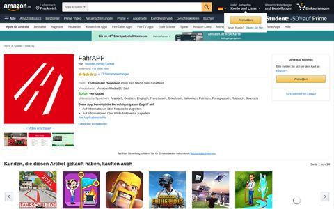 FahrAPP: Amazon.de: Apps für Android