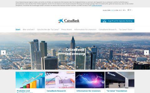 CaixaBank: HOME   Frankfurt
