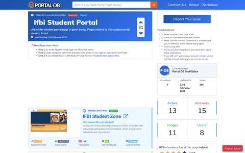 Ifbi Student Portal