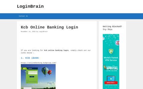 kcb online banking login - LoginBrain
