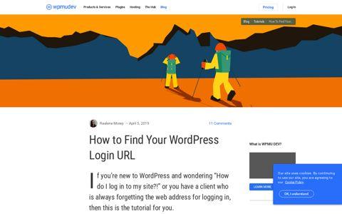How to Find Your WordPress Login URL - WPMU Dev