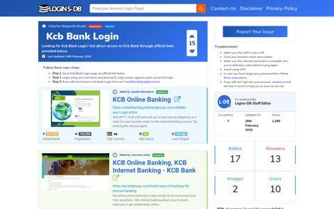 Kcb Bank Login - Logins-DB