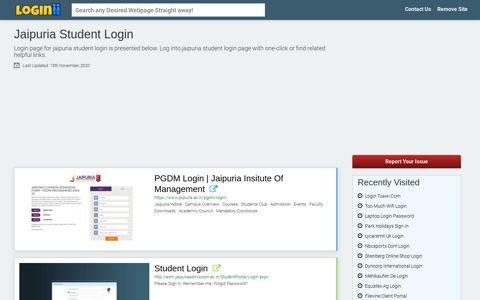 Jaipuria Student Login - Loginii.com