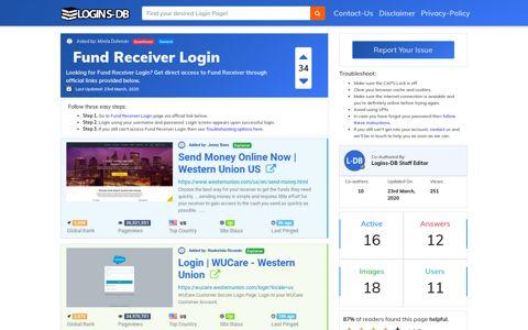 Fund Receiver Login - Logins-DB
