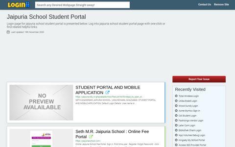 Jaipuria School Student Portal - Loginii.com