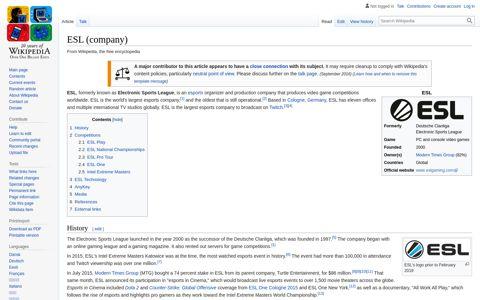 ESL (company) - Wikipedia