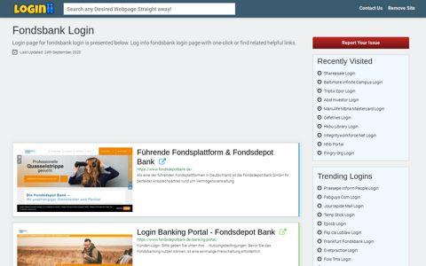 Fondsbank Login