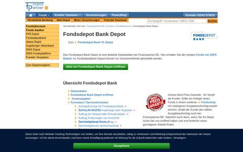 Fondsdepot Bank Depot mit Rabatt - Finanzpartner.DE