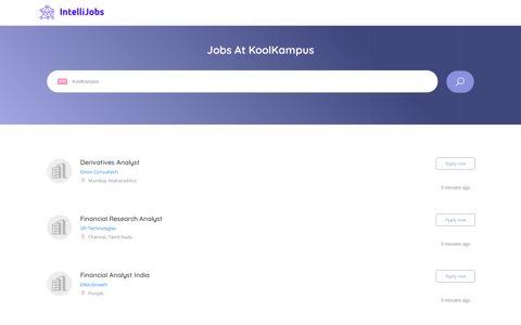 Jobs At Koolkampus | intellijobs.ai