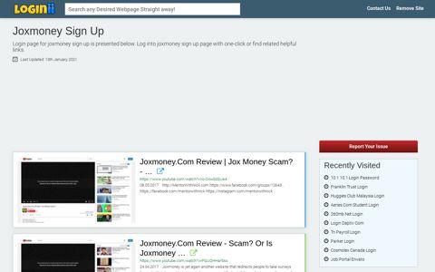 Joxmoney Sign Up - Loginii.com