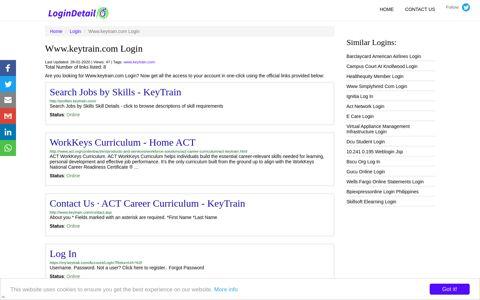 Www.keytrain.com Login Search Jobs by Skills - KeyTrain ...