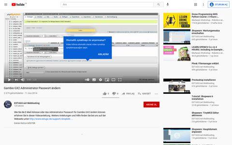 Gambio GX2 Administrator Passwort ändern - YouTube
