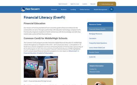 Financial Literacy (EverFi) - First Security