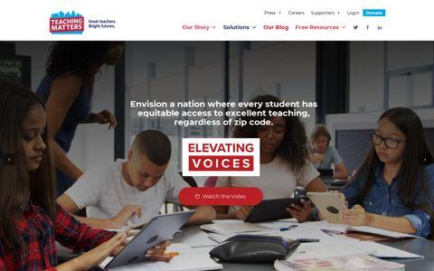Teaching Matters: Homepage
