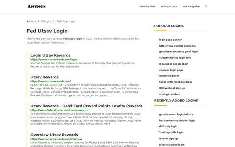Fed Utsav Login ❤️ One Click Access