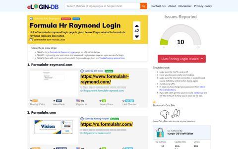 Formula Hr Raymond Login - login login login login 0 Views