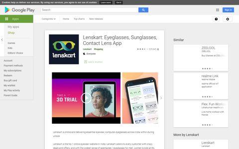 Lenskart: Eyeglasses, Sunglasses, Contact Lens App - Apps ...