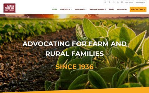North Carolina Farm Bureau – Advocating for Farm and Rural ...