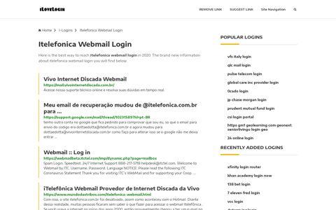 Itelefonica Webmail Login ❤️ One Click Access - iLoveLogin