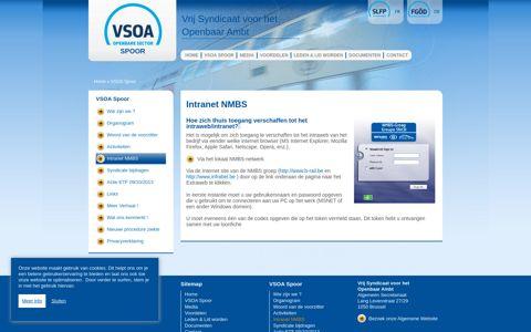 Intranet NMBS   VSOA - Rail - VSOA Spoor