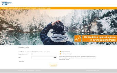 Login Banking Portal - Fondsdepot Bank