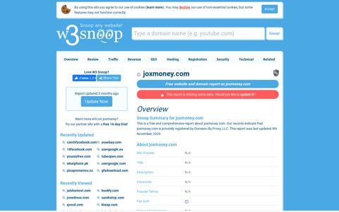 Joxmoney - Joxmoney.com
