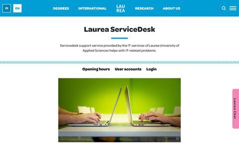 Helpdesk - Laurea-ammattikorkeakoulu