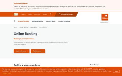 Internet Banking - GTBank