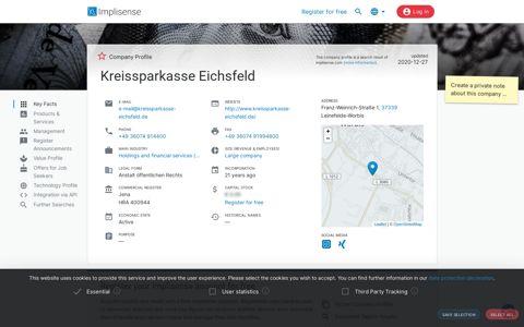 Kreissparkasse Eichsfeld   Implisense