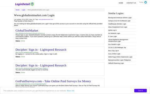 Www.globaltestmarket.com Login GlobalTestMarket - https ...