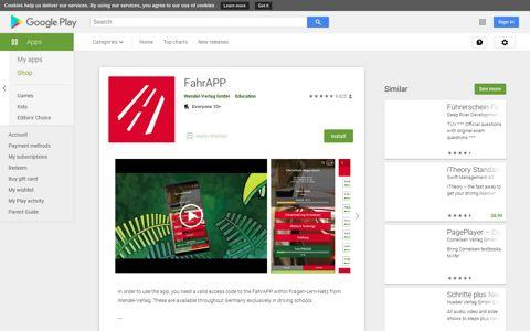 FahrAPP - Apps on Google Play