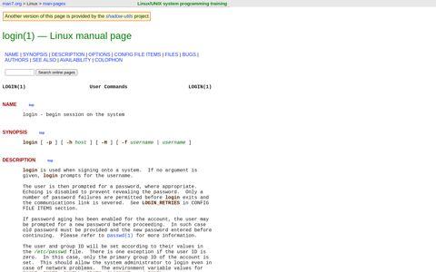 login(1) - Linux manual page - man7.org