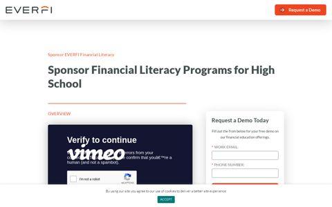 Sponsor Financial Literacy Programs for High School | EVERFI