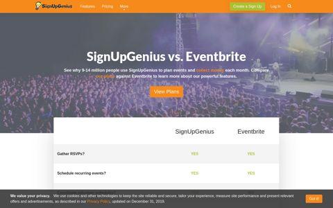 SignUpGenius vs. Eventbrite Review