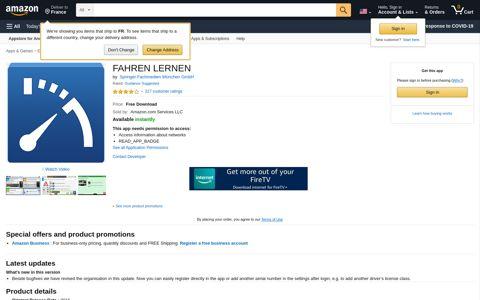 FAHREN LERNEN: Appstore for Android - Amazon.com