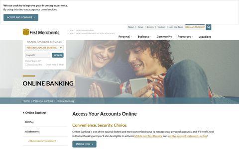 First Merchants Online Banking | Online Bank Account | First ...