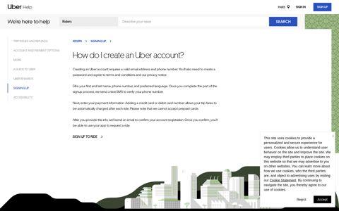 How do I create an Uber account? | Riders - Uber Help