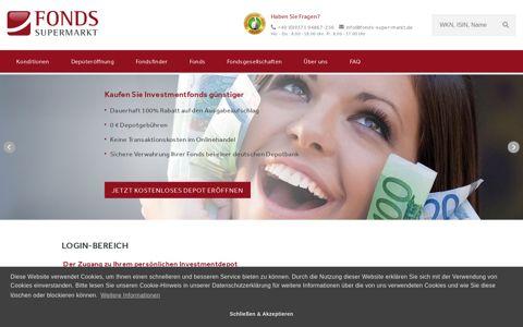 Depotlogin - FondsSuperMarkt
