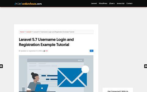 Laravel 5.7 Username Login and Registration Example Tutorial