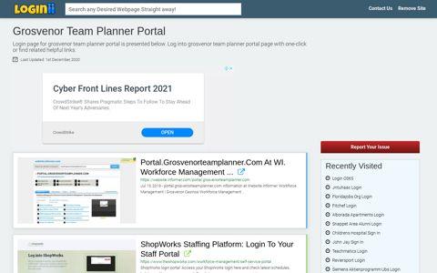 Grosvenor Team Planner Portal - Loginii.com