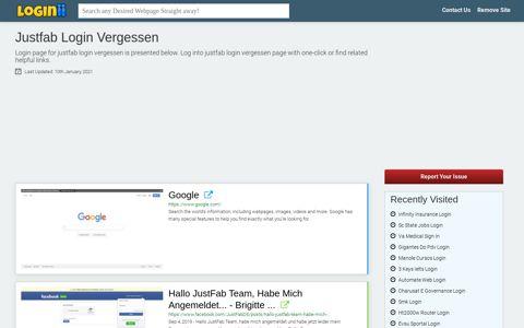 Justfab Login Vergessen - Loginii.com