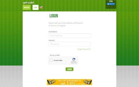 Login | Get Paid
