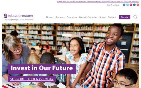 EducationMatters - Calgary's Trust for Public Education