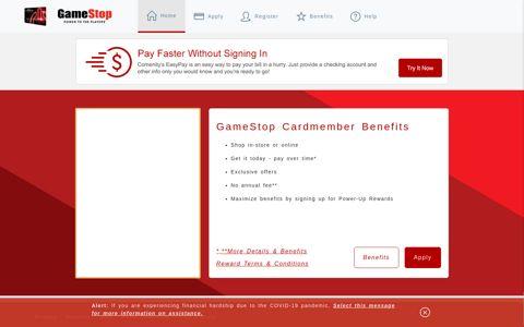 Gamestop Powerup Rewards Credit Card - Home - Comenity