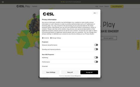 ESL Play: Landing