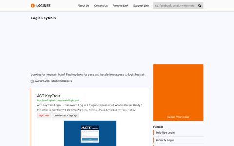 Login.keytrain - loginee.com logo loginee