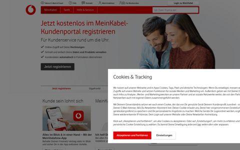 MeinKabel - Vodafone Kabel Deutschland Kundenportal